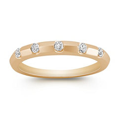 Stackable Five-Stone Diamond Ring in 14k Yellow Gold