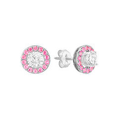 Adjustable Pink Sapphire Earring Jackets