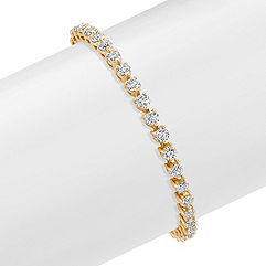 Round Diamond Tennis Bracelet in 14k Yellow Gold (7) - 2 ct tw