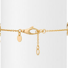 14k Yellow Gold Multi-Circle Fashion Bracelet (7.5)