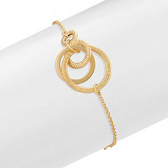 14k Yellow Gold Multi-Circle Fashion Bracelet (7.5 in.)