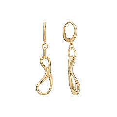 14k Yellow Gold Infinity Leverback Earrings