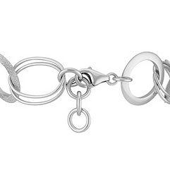 Sterling Silver Circle Link Bracelet (7.5)