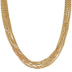 Yellow Sterling Silver Chain Necklace (18)