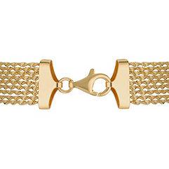 Yellow Sterling Silver Chain Bracelet (7.5)