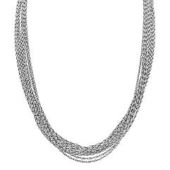 Multi-Strand Sterling Silver Necklace (18)