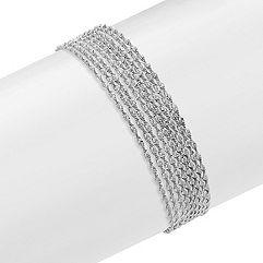 Multi-Strand Sterling Silver Bracelet (7.5)