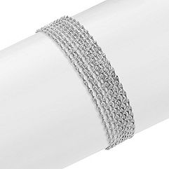 Multi-Strand Sterling Silver Bracelet (7.5 in.)