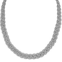 Sterling Silver Braided Necklace (18 in.)