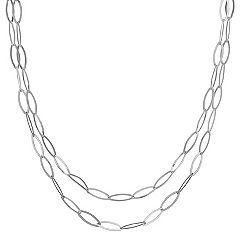 Sterling Silver Link Necklace (47 in.)