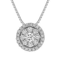 Diamond Cluster Circle Pendant (18)
