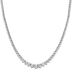 Graduated Round Diamond Necklace (17 in.)