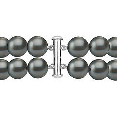 9mm Cultured Tahitian Pearl and Round Diamond Bracelet (8)