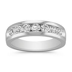Seven Stone Round Diamond Ring with Channel Setting
