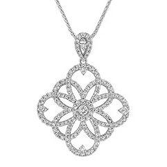 Round Diamond Pendant (18 in.)