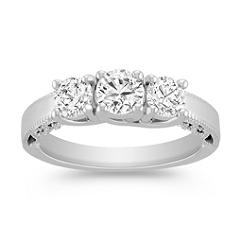 Vintage Diamond Three-Stone Ring