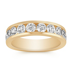 Ten Stone Diamond Wedding Band with Channel Setting