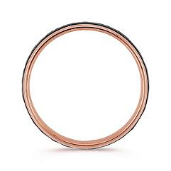 14k Rose Gold Ring with Hammered Black Rhodium (6mm)