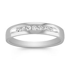 Round Diamond Channel-Set Men's Ring