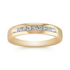 Diamond Channel-Set Men's Ring