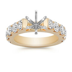 Classic Cathedral Pave Engagement Ring