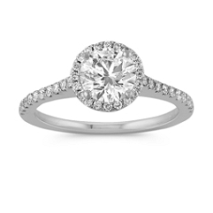 Halo Round Diamond Engagement Ring