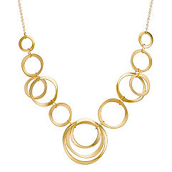 "14k Yellow Gold Circles Necklace (18"")"