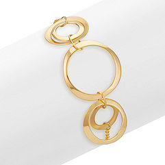 14k Yellow Gold Five Circle Bracelet (7 in.)