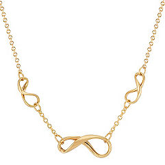 Infinity Necklace in 14k Yellow Gold (18 in.)