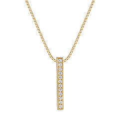 Diamond Bar Pendant (18 in.)