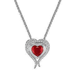 Heart Shaped Ruby and Diamond Heart Pendant (22)