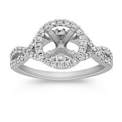 Halo Infinity Diamond Engagement Ring
