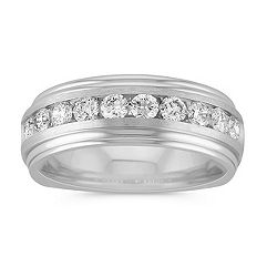 Ten Stone Round Diamond Ring with Channel Setting