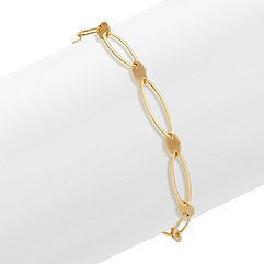 Oval Link 14k Yellow Gold Bracelet (7.5 in.)