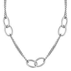 Sterling Silver Interlocking Link Necklace (18)
