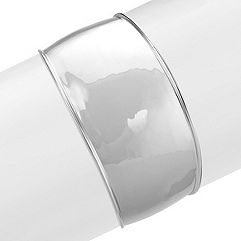 Sterling Silver Tapered Cuff Bracelet (7.5 in.)