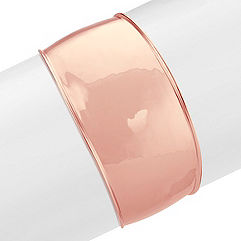 Rose Sterling Silver Tapered Cuff Bracelet (7.5 in.)