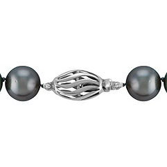 10-12mm Cultured Tahitian Pearl Necklace (17)