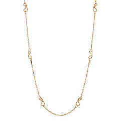 Infinity and Chain Necklace in Yellow Gold (35.5 in.)
