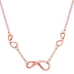 Infinity Necklace in 14k Rose Gold (18 in.)