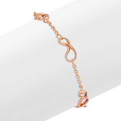 Infinity Bracelet in Rose Gold (7 in.)