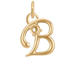 14k Yellow Gold Letter B Charm (3/8 W x 3/8 H)