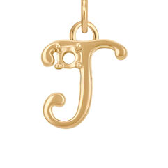 14k Yellow Gold Letter J Charm (3/8 W x 3/8 H)