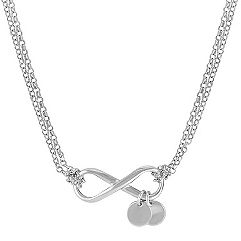 Engravable Infinity Necklace in Sterling Silver (18 in.)
