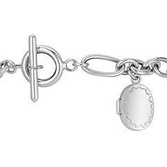 Locket Link Bracelet in Sterling Silver (7.5)