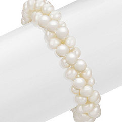 5.5mm Cultured Freshwater Pearl Three Strand Bracelet (8.5 in.)