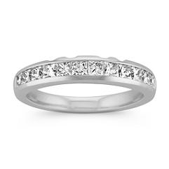 Twelve Stone Princess Cut Diamond Wedding Band with Channel Setting