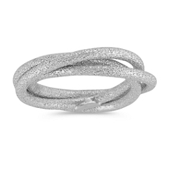 Linked Trio Stardust Rings in Sterling Silver