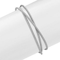 Linked Trio Stardust Bangle Bracelet in Sterling Silver (7.5 in.)