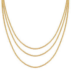 Yellow Sterling Silver Beaded Necklace (80 in.)
